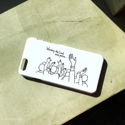 워십 핸드폰케이스 (화이트/블랙)