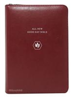 [교회단체명 인쇄] ALL NEW 굿데이성경 미니 합본 (색인/친환경PU소재/지퍼/레드와인)