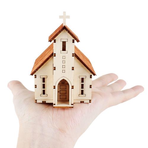 [영공방] 미니 웨스턴 교회 (YM577)