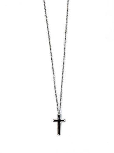 블랙 라인 십자가 목걸이