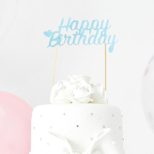 케이크 토퍼번팅(생일 블루, 핑크)