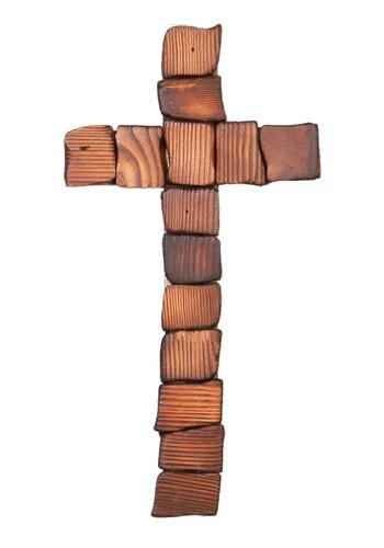 나무조각 벽걸이십자가(중)