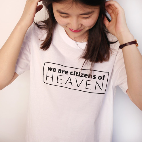 갓피플 반팔 티셔츠- HEAVEN