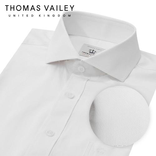 [THOMAS VAILEY] 토마스 베일리 남성드레스셔츠 트윌 화이트 와이드카라 슬림핏 1THTHA4MSU109