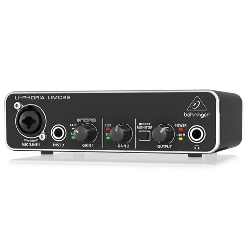베링거 U-PHORIA UMC22 오디오 인터페이스