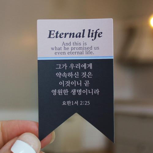 Natural Day-심플 메세지 부활절 스티커10개(영원한 생명-부활)-피터카페