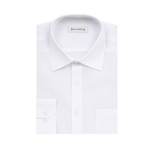 밀라노바_레귤러핏_긴소매_화이트 와이셔츠