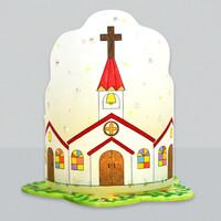 [아트공구50-1] 교회 십자가 조명등(전등갓)