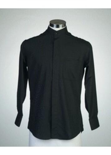 목회자셔츠-차이나카라셔츠 검정