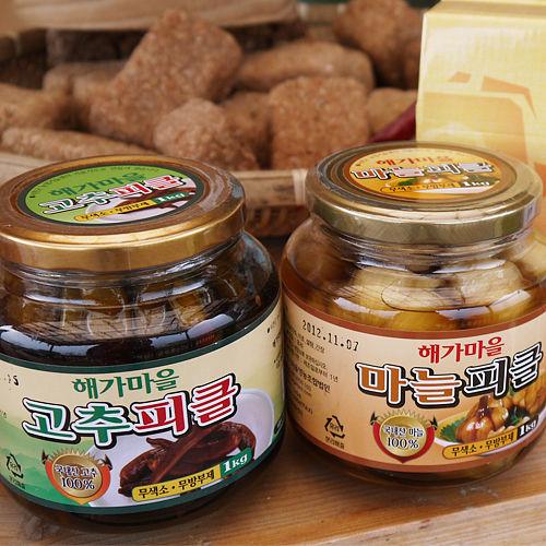 남전교회 해가마을 고추피클/마늘피클(1kg)