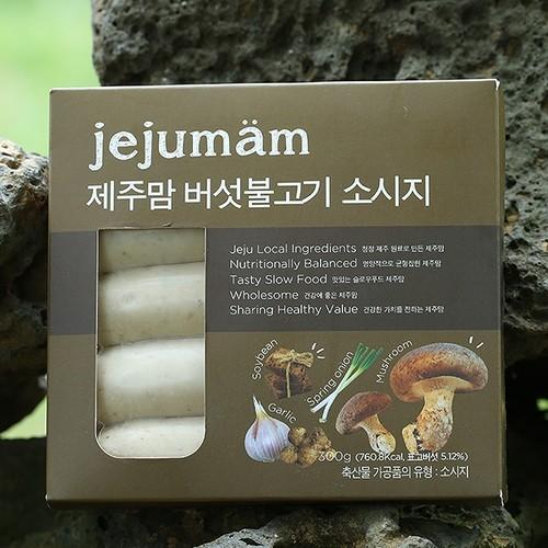 제주맘 버섯불고기 소시지300g(60g*5개)