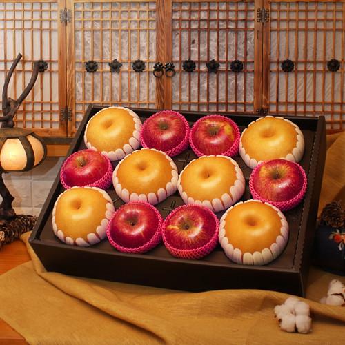 [선물세트] 사과 배 혼합세트 (사과 6개, 배 6개)
