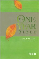 NIV: One Year Bible NIV, Premium Slimline Large Print edition (PB)