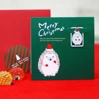 크리스마스 북마크카드 - 따뜻한 슴양