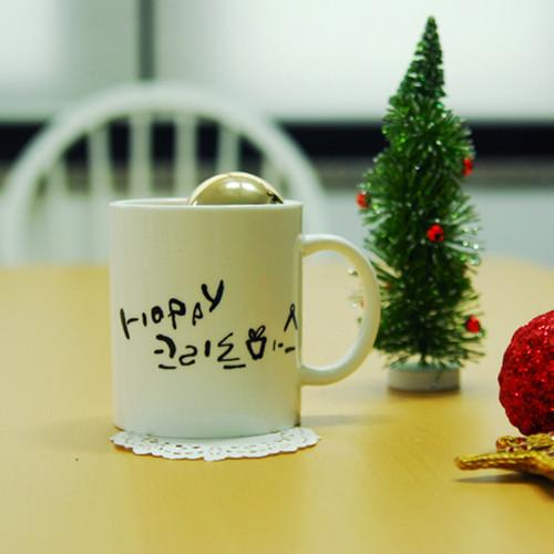 1AM 캘리그라피 크리스마스 머그컵 - 2. 해피 크리스마스