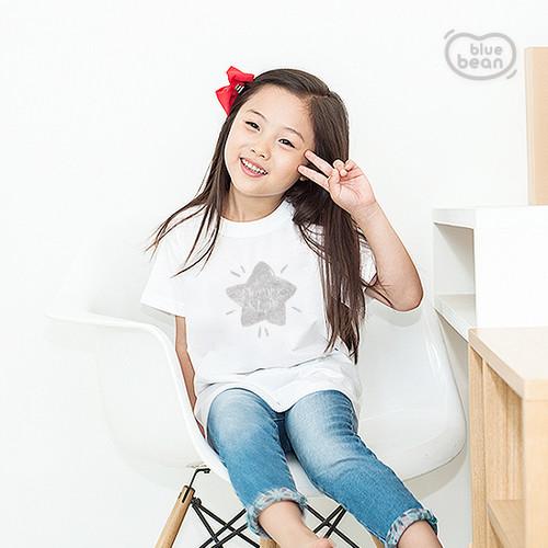 블루빈 아동 성인 티셔츠-모닝스타(실버)