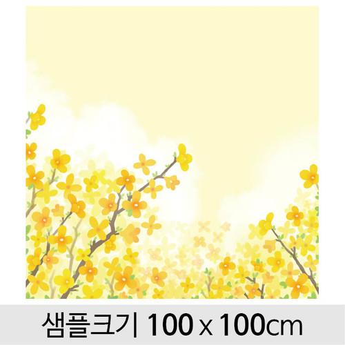 봄배경현수막(개나리)-108 ( 100 x 100 )