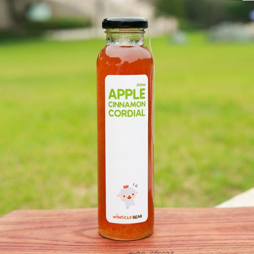 유럽 전통방식으로 만든 윙클베어 애플시나몬 무설탕농축원액 코디얼 300ml