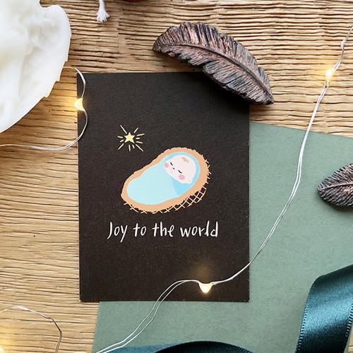 해피크리스마스 미니카드 - 아기예수