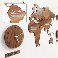 [맞춤제작] 선교지 기도용 지도시계_목적이 이끄는 우리교회 벽장식