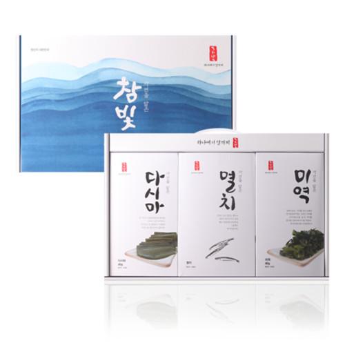 참빛 자담 3호(미역, 다시마, 멸치 세트)