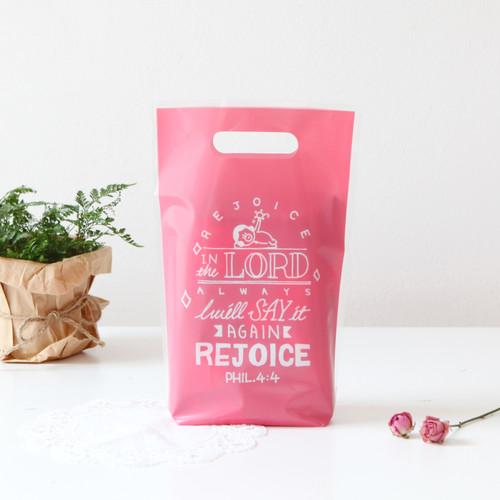 패키징 선물포장 비닐백(중) 03.젤리핑크(5매)