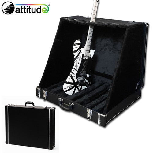 [Attitude] 6단 기타 스탠드 (렉 타입), 접었을 때 케이스로 전환 - Black