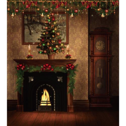 크리스마스현수막(벽난로)-770  ( 160 x 180 )