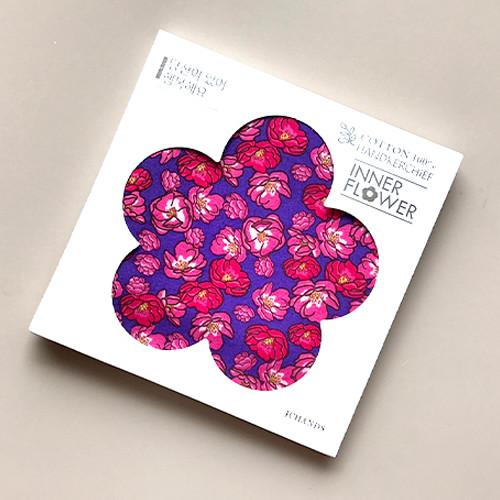 제이씨핸즈 이너플라워 손수건 02_Flower of Red Violet
