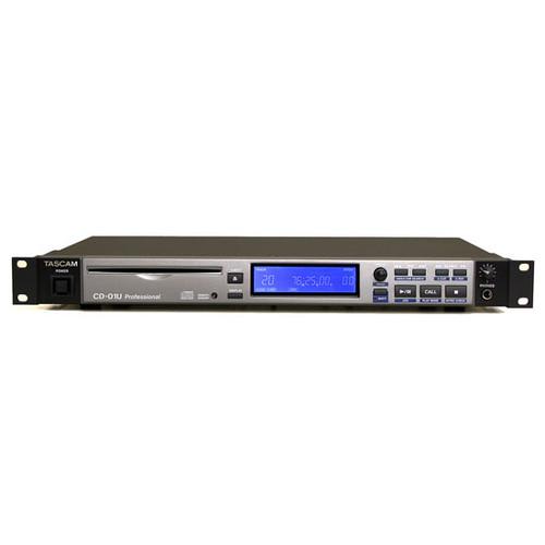 TASCAM CD-01 U PRO 플레이어 (렉 타입의 MP3/12cm/8cm CD 플레이어)
