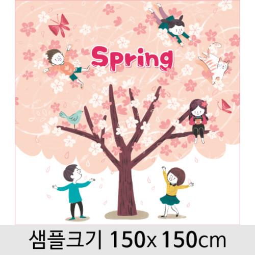 봄배경현수막(벚꽃)-098 ( 150 x 150 )