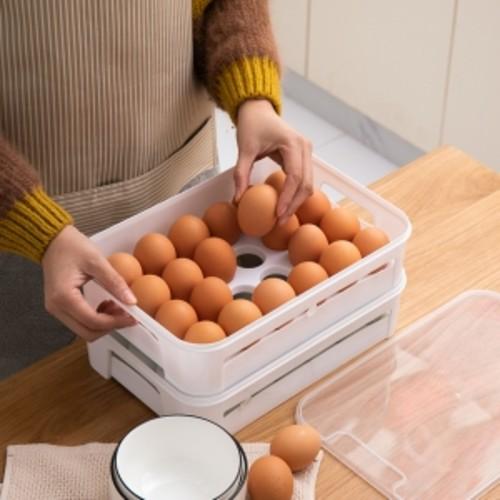 위생적인 달걀 보관 홀더 적층 구조 - 숨 쉬는 구조