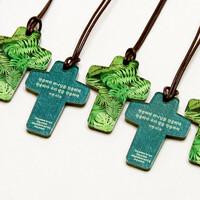 아크릴 십자가 목걸이- 축복(40개이상,인쇄가능)