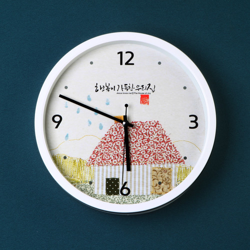 무소음벽시계-행복이가득한우리집