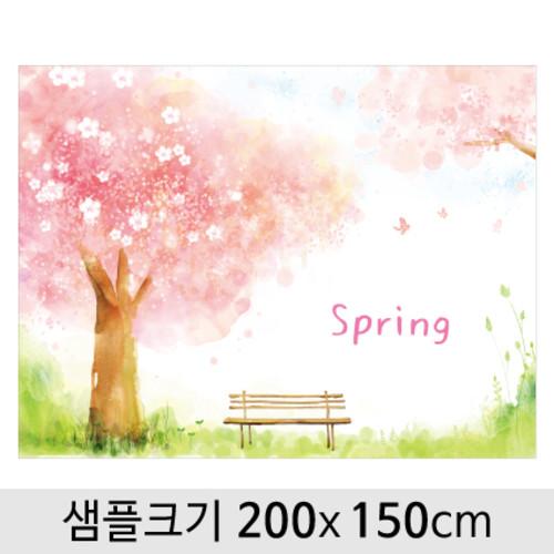 봄배경현수막(벚꽃)-094 ( 200 x 150 )
