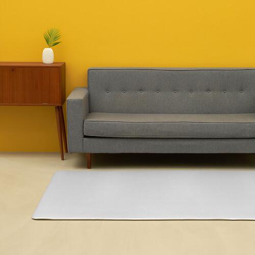 [안탈로 디자인 매트] 양면 PVC매트 라이트그레이솔리드 크림솔리드