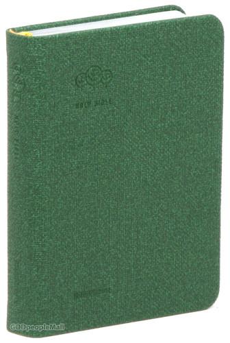 Holy Bible 개역한글판 성경전서 미니 단본(색인/이태리신소재/밴드식/그린/42HC)