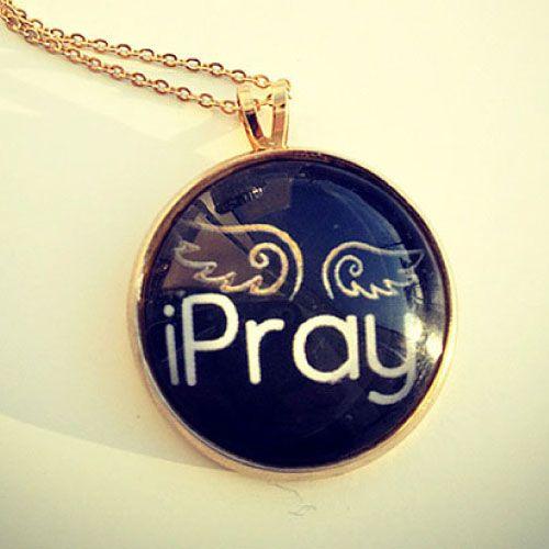 목걸이 - I Pray (Black) 나는 기도한다