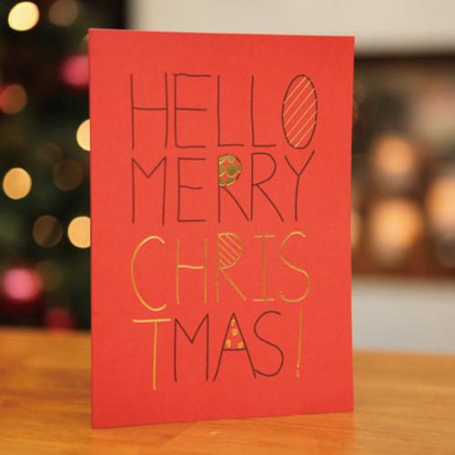 하베스터 크리스마스 카드 - 헬로 크리스마스