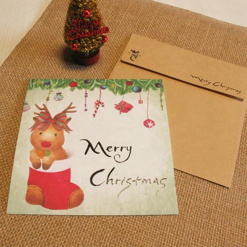 크리스마스 카드 B - 아기 루돌프