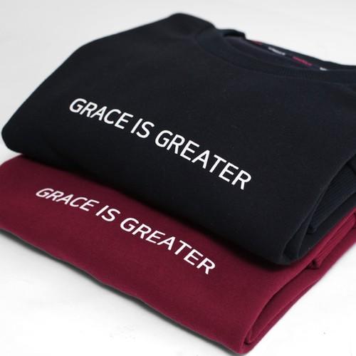 갓피플 맨투맨 티셔츠 - 은혜가 더 크다 : GRACE IS GREATER