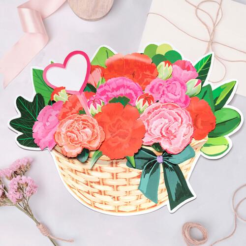 피콕 카네이션 바구니 만들기(꽃 5장 바구니 5장 1세트)