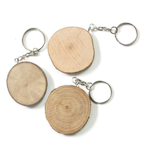 천연나무 장식고리(원형) - 10개묶음