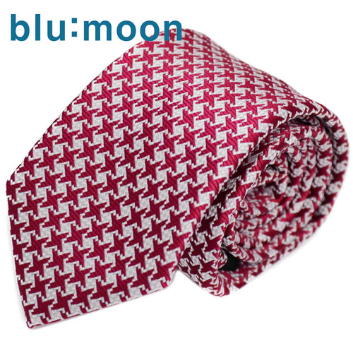 [blu:moon] 블루문넥타이 - 슬림빅하운드 레드 7cm