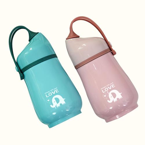 코끼리 텀블러(핑크/파랑)350ml