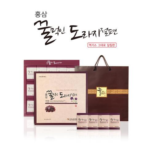 금산양전 홍삼꿀먹인 도라지절편 선물세트 15봉