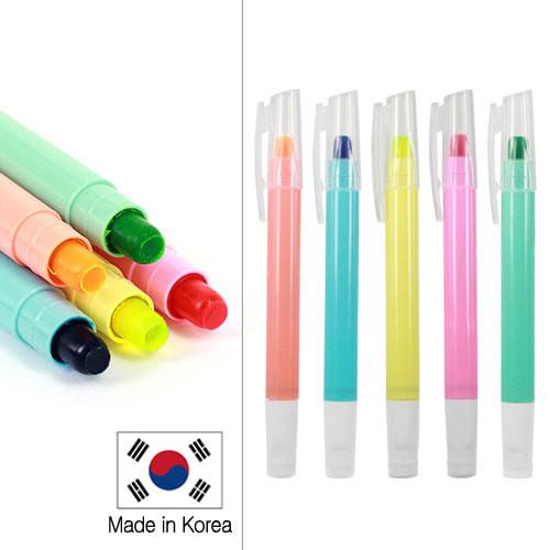 단체인쇄용 - 슬림마이티고체형광펜 (JH-100) / 형광펜