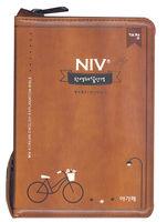 개정 NIV 한영해설성경 미니 합본(색인/이태리신소재/지퍼/브라운)