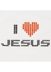 핫 픽스 큐빅 티셔츠 I LOVE JESUS(LC9044)-성인용