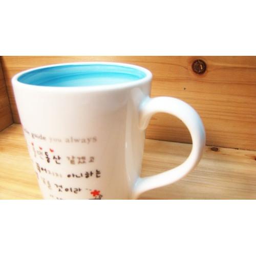 물결컬러머그컵/스카이블루/물댄동산